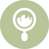 icon representing local search marketing services